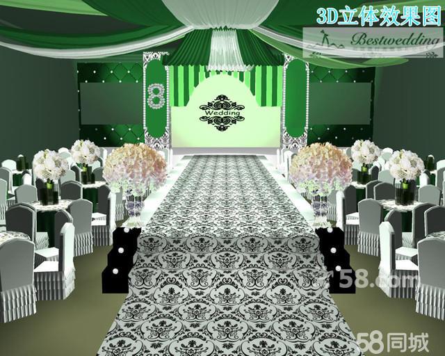 佰斯葳汀高端婚礼定制3d舞台效果图