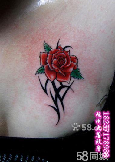 玫瑰花纹身图片