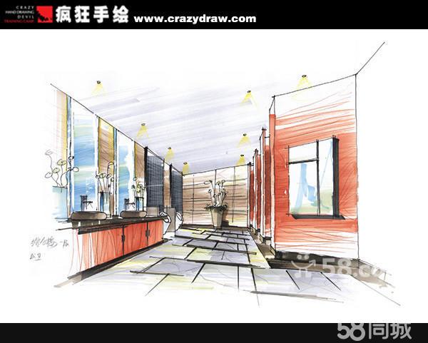 室内设计手绘效果图3