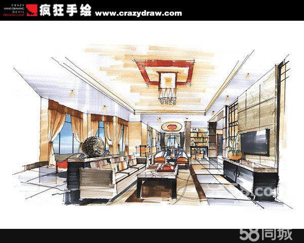 室内设计手绘效果图4