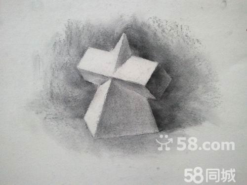 罐子石膏结构素描