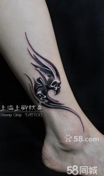 欧美小骷髅纹身