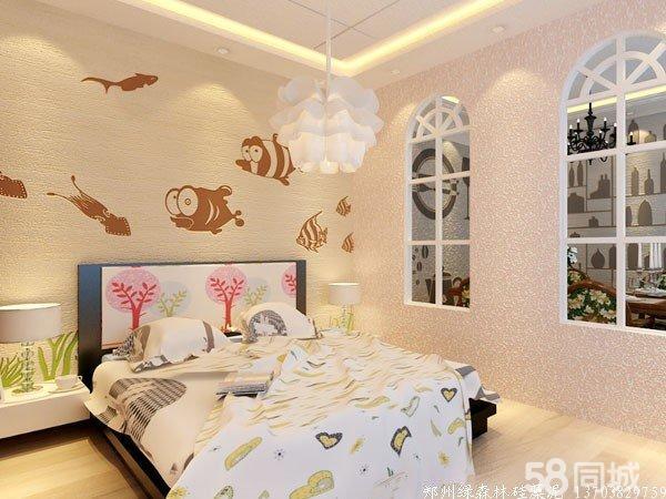 硅藻泥卧室背景墙效果图