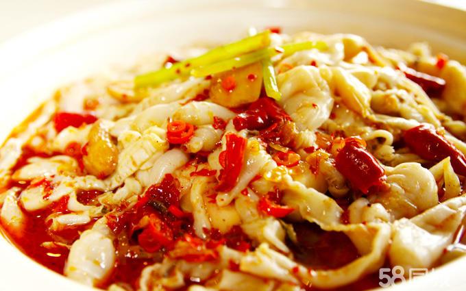 长脚蟹海鲜毋米粥,本帮烤子鱼,海虾千岛沙律,泰椒牛孖展,鲜果咕噜石斑