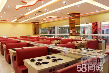 勛甘同味回轉涮涮鍋是新型火鍋店,店內裝修雅致,用餐環境舒適.