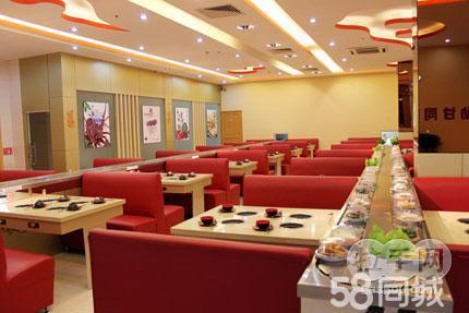 勋甘同味回转涮涮锅是新型火锅店,店内装修雅致,用餐环境舒适.