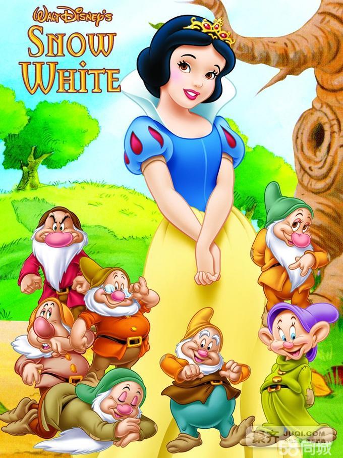 可怜的公主在森林里迷了路,却遇到了7个可爱的小矮人.