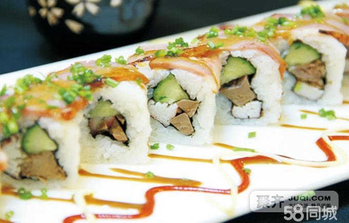 寿司:八仙过海,黑椒牛肉卷,彩虹卷,双鱼座等任选其二;烤,炸类:秋刀鱼