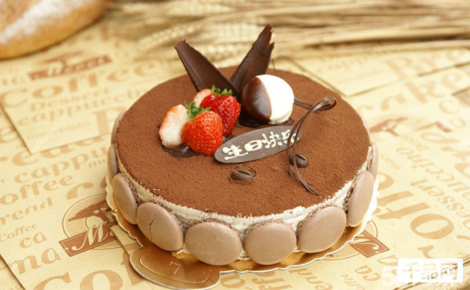 手绘可爱q蛋糕