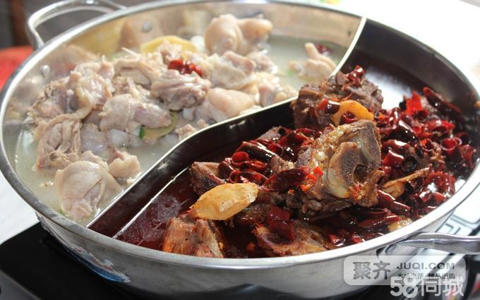 精品羊蝎子(鸳鸯锅羊蝎子,清城山土鸡煨猪蹄等三选二),肥牛,羊肉,午餐