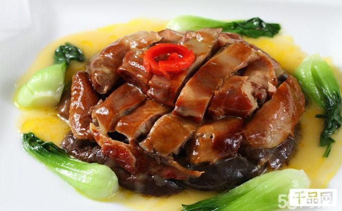 木盆排骨+风鹅烤扁尖笋+茶香鸡扣三宝+妈妈夹沙肉