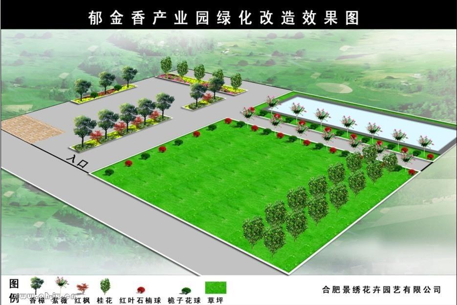 校园绿地规划设计平面图