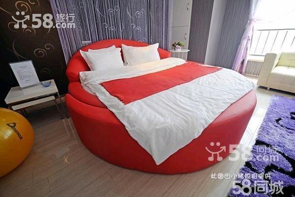 悦城情趣电动红圆床