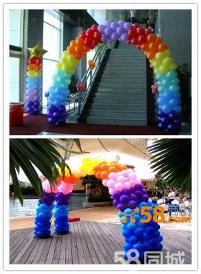 北京气球造型编制 商场活动庆典氦气球布置