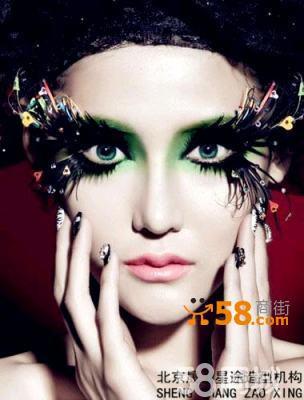 t台舞台创意高级彩妆师图片