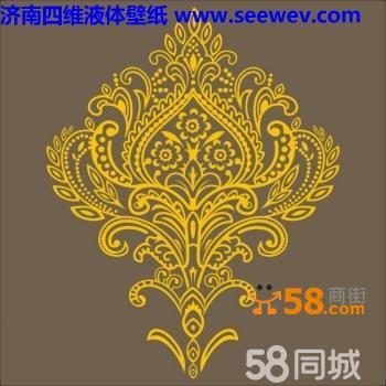 中式硅藻泥贴图素材大图