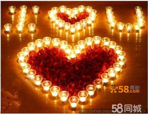表白蜡烛 造型蜡烛 摆蜡烛造型 蜡烛玫瑰套餐