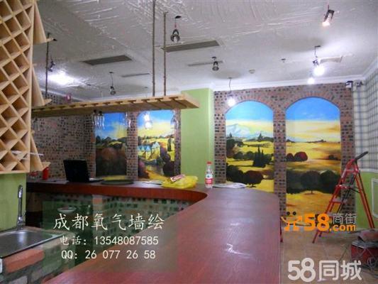 商场壁画/地下商场彩绘/服装店墙绘/商场形象墙/室