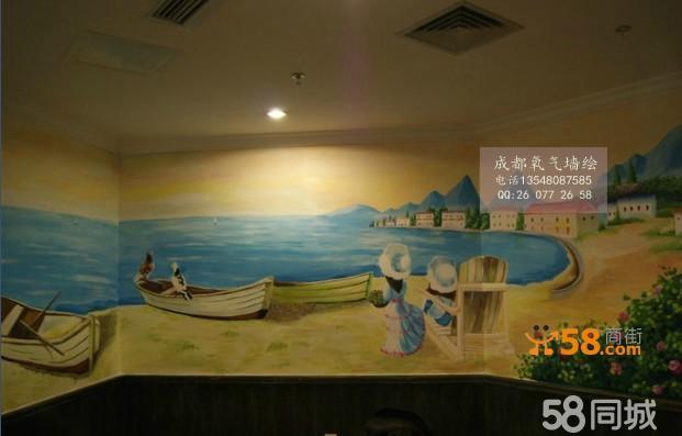 烧烤店绘画/咖啡店壁画/牛排店墙绘/火锅店彩绘喷绘