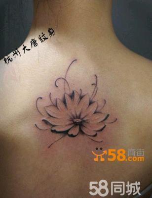 杭州大唐纹身- 荷花纹身