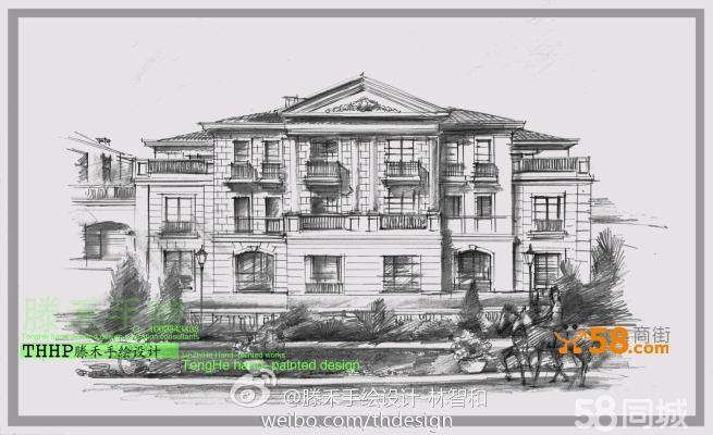 杭州滕禾手绘培训--建筑设计手绘培训-林智和