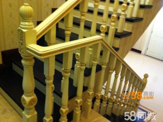 重庆实木楼梯,不锈钢栏杆